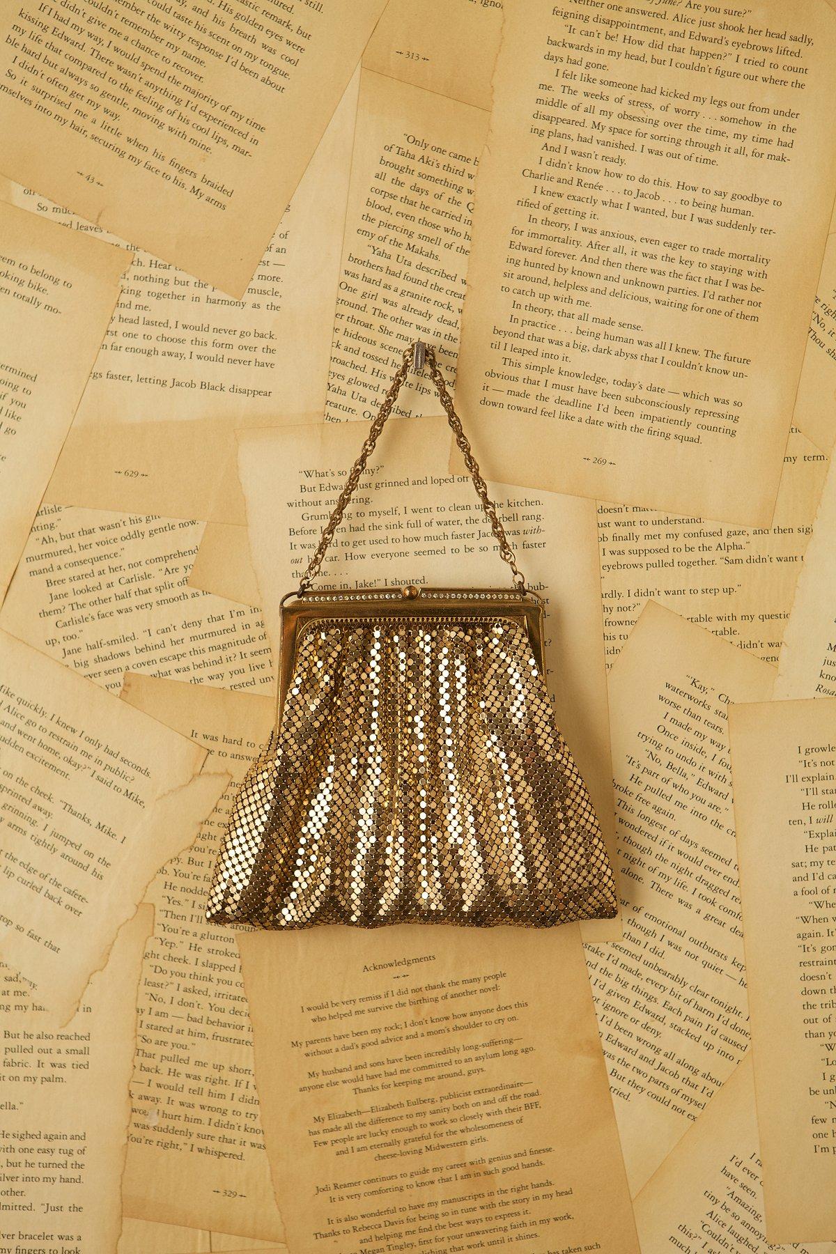 Vintage Gold Mesh Evening Bag