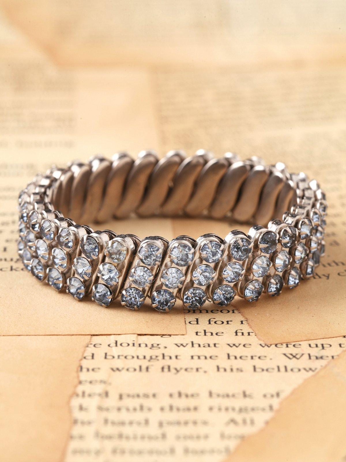 Vintage Stretch Rhinestone Bracelet