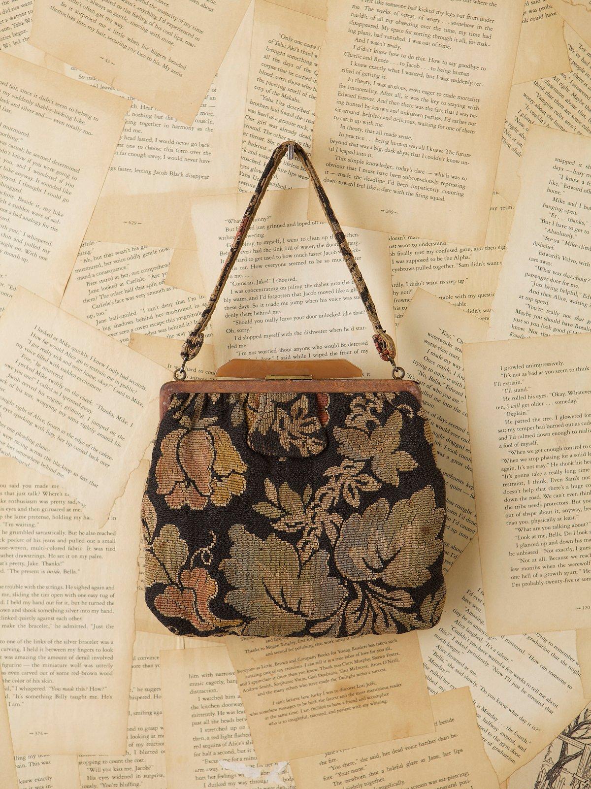 Vintage 1970s Floral Carpet Bag