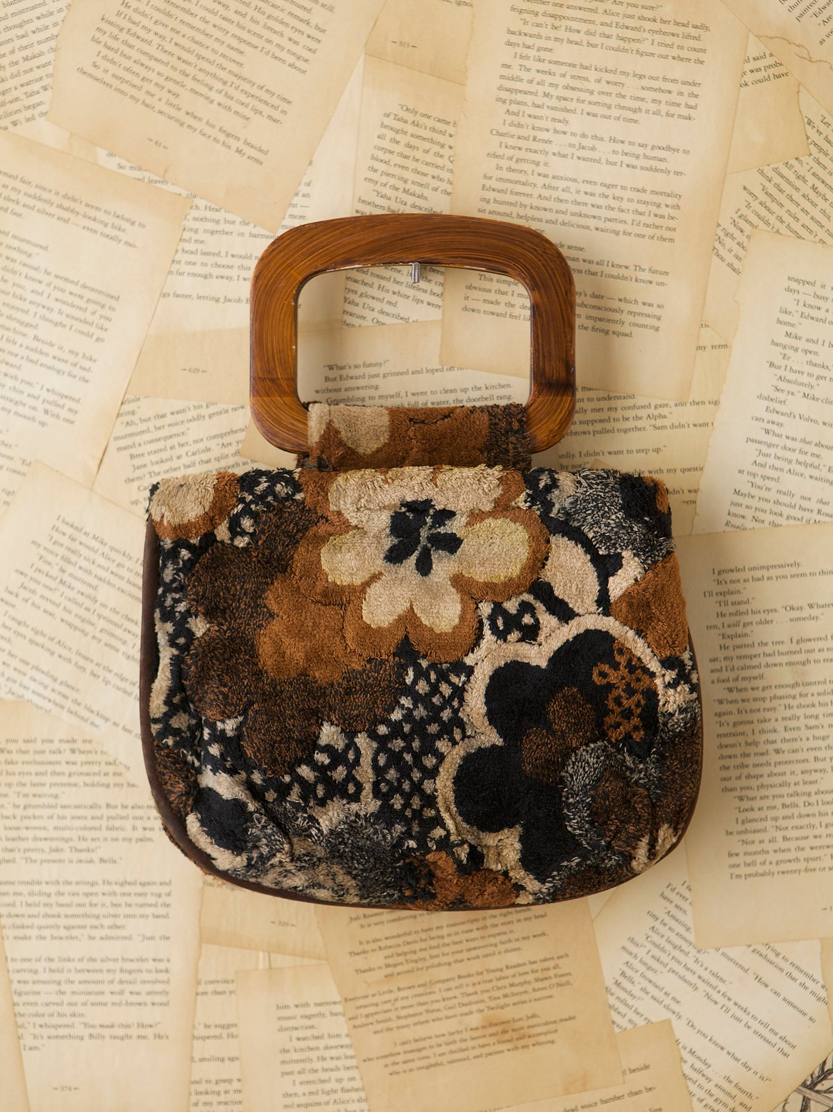 Vintage 1970s Floral Carpet Bag