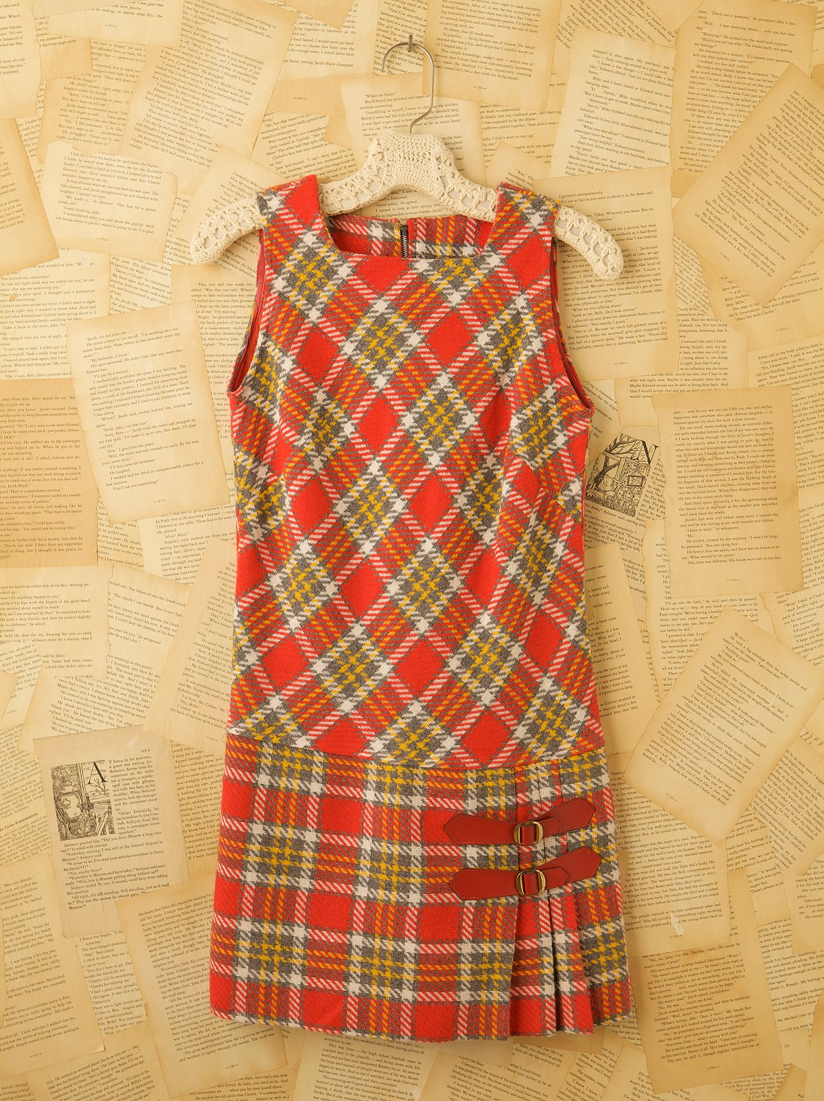 Vintage Plaid Twiggy Dress