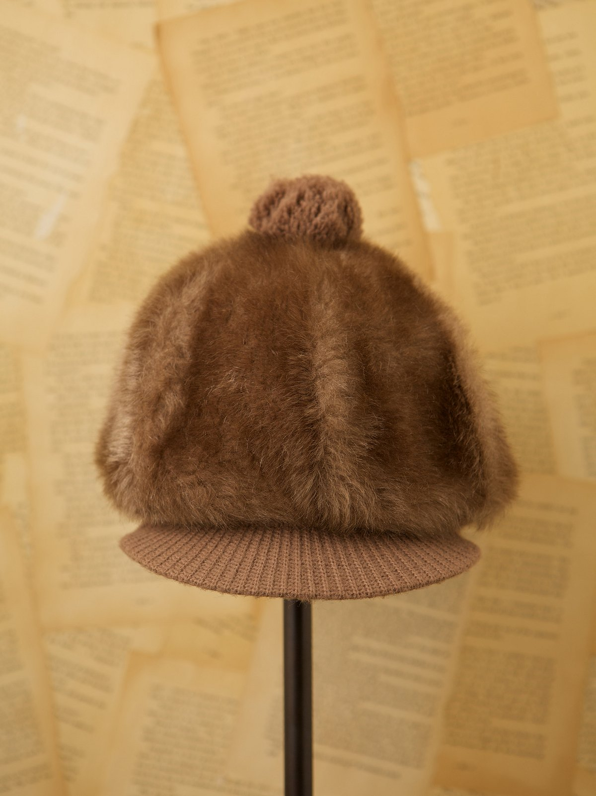 Vintage 1970s Faux Fur Hat