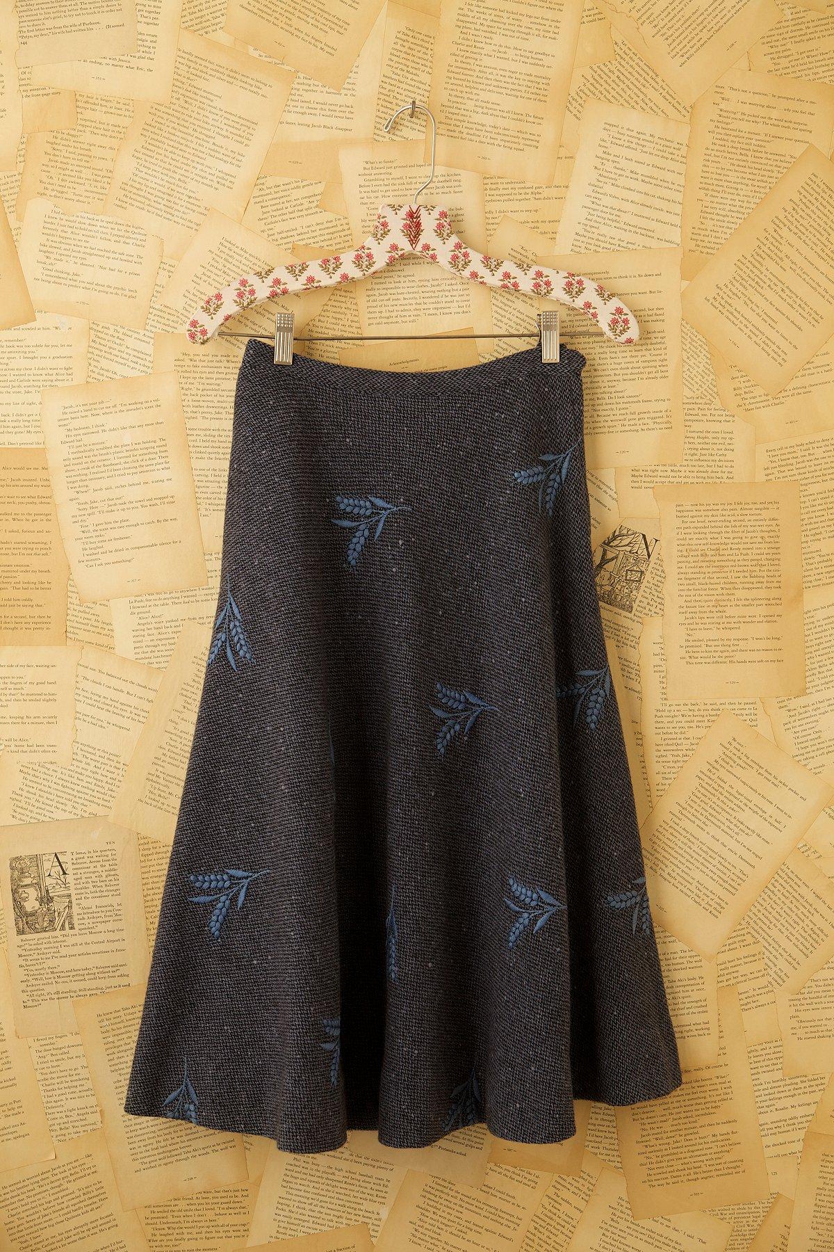 Vintage Wool Plaid Skirt