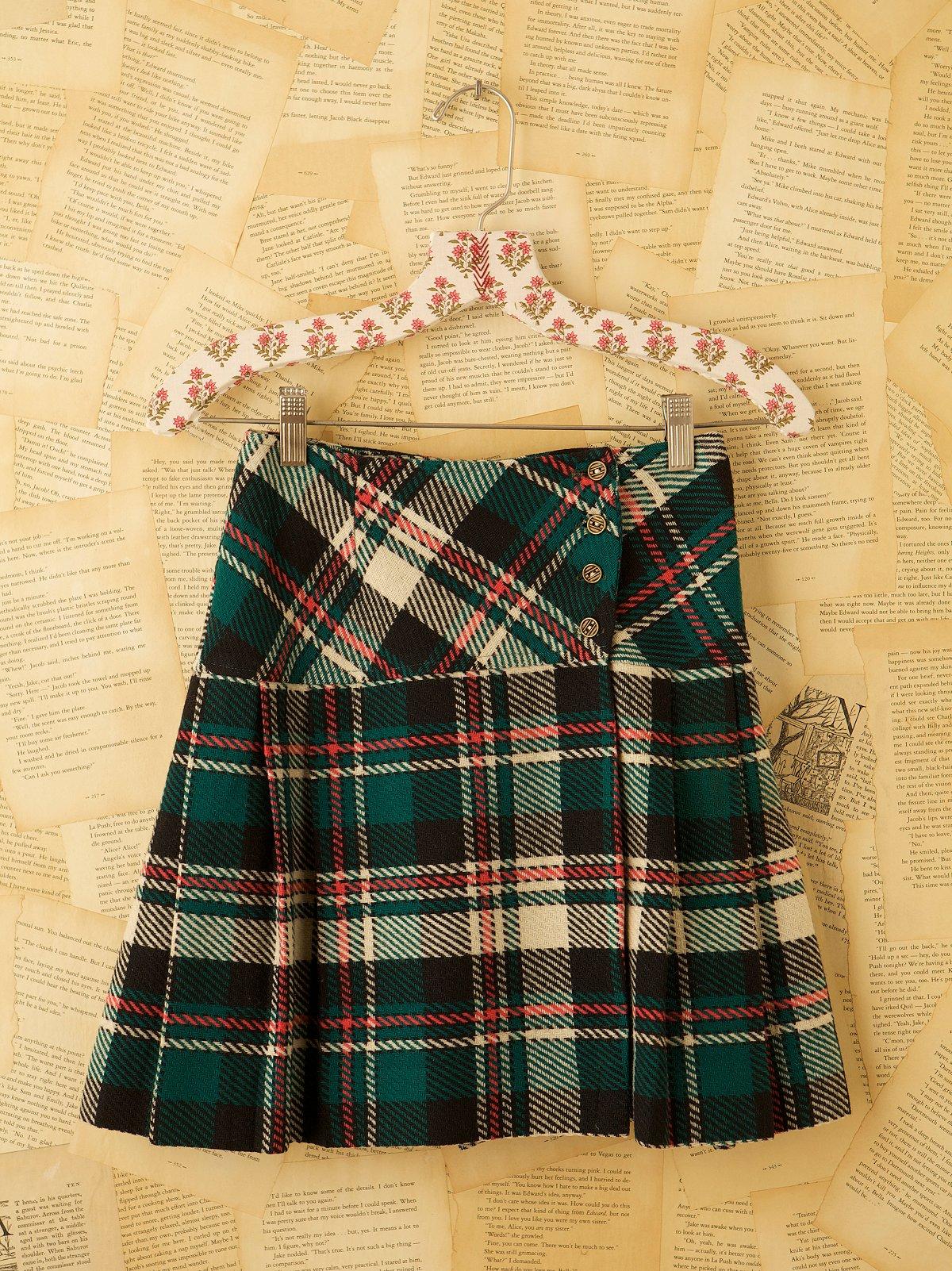 Vintage Short Tartan Skirt