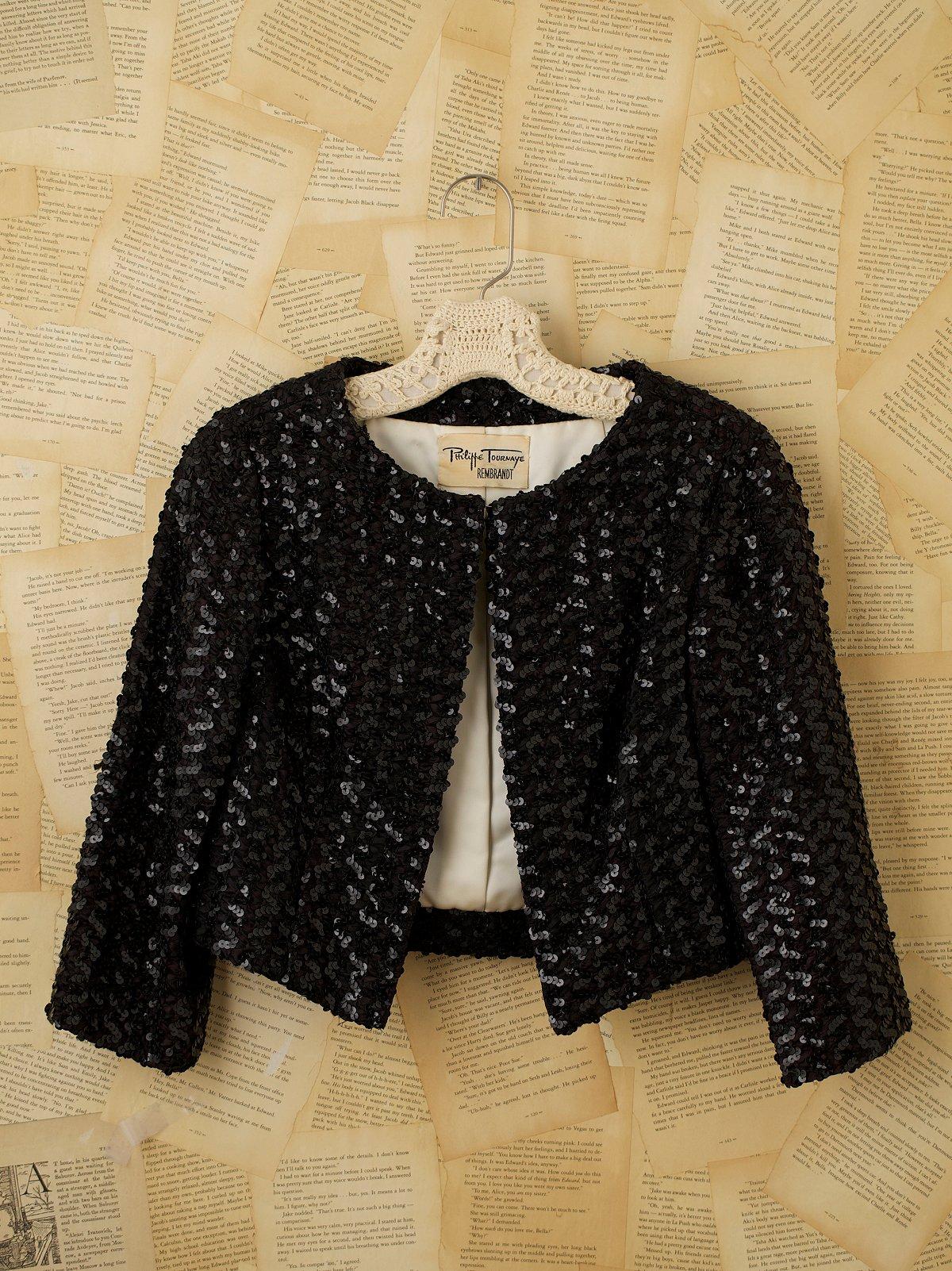 Vintage Sequin Cropped Jacket