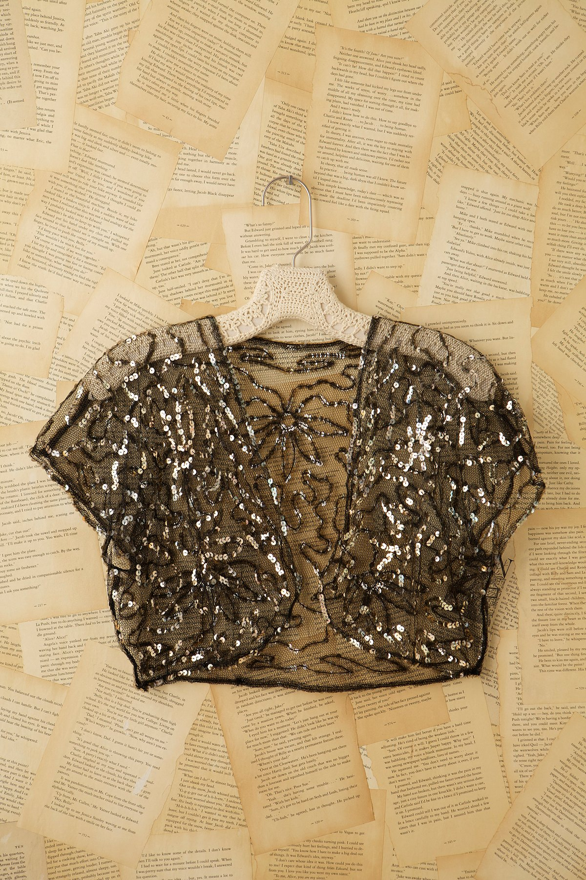 Vintage Sequin Bedjacket