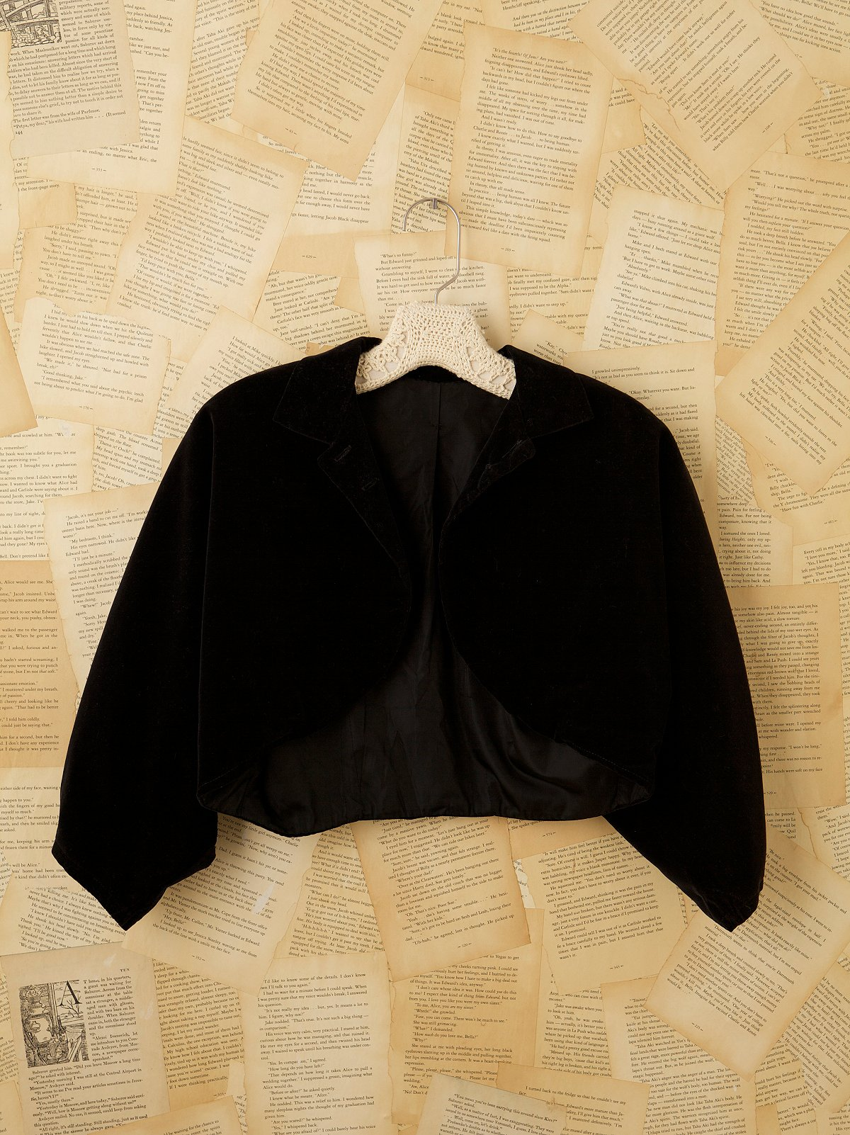 Vintage 1960s Velvet Bolero Jacket