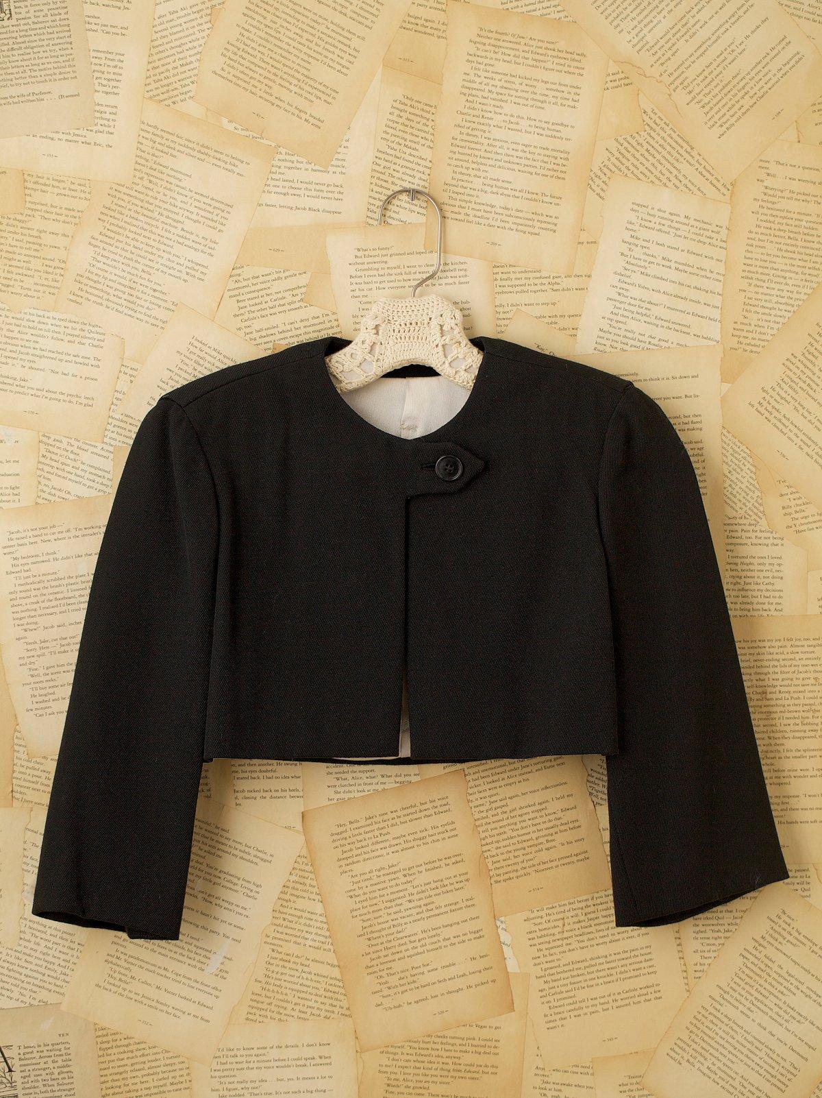 Vintage Cropped Wool Jacket