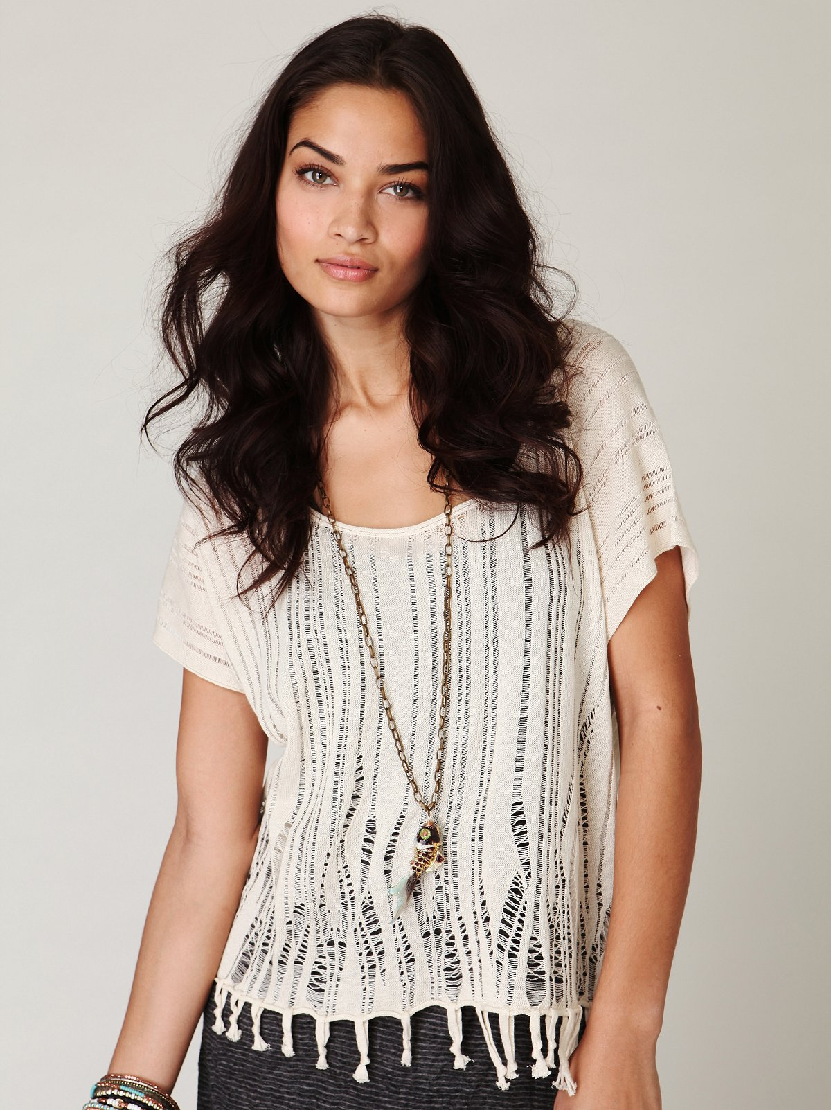 Borderline Fringe Sweater