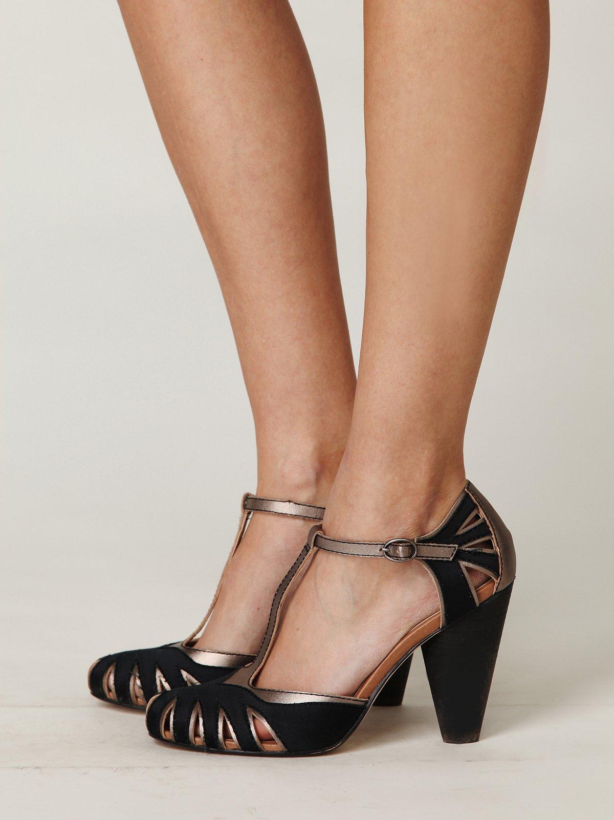 Adele T-strap Heel
