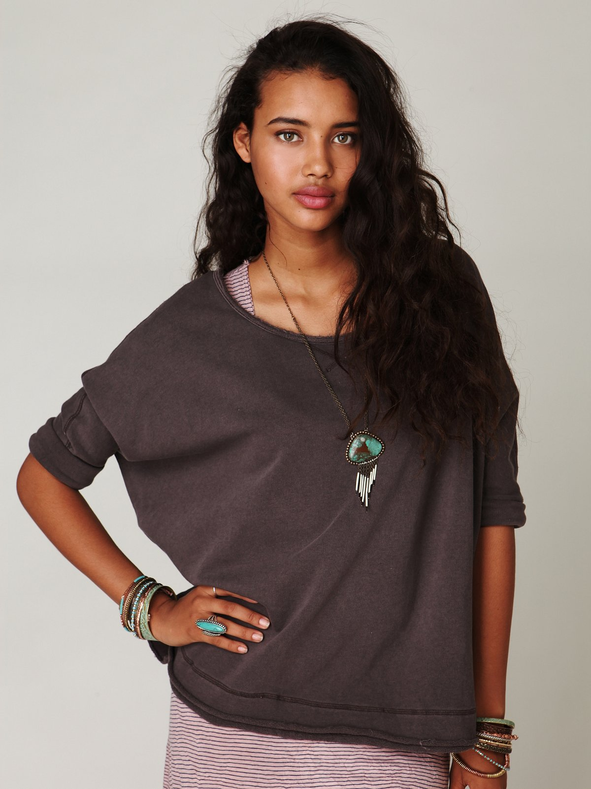 Boxy Solid Pullover