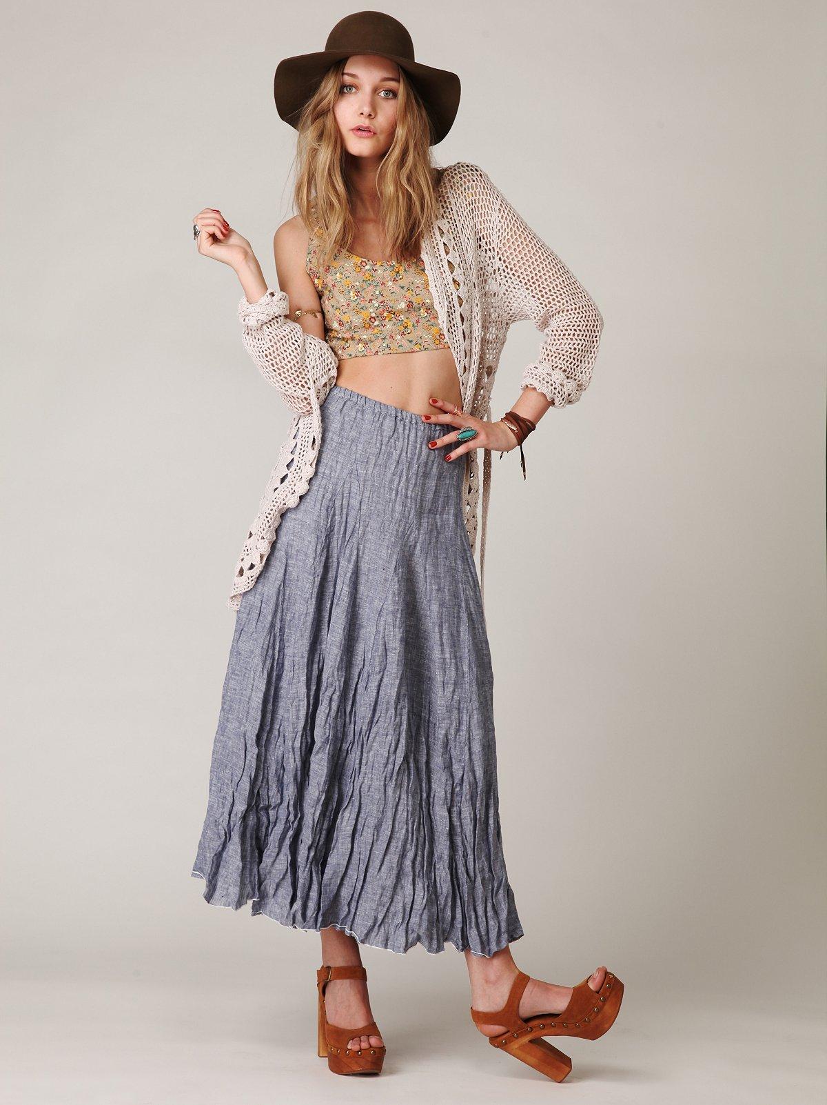CP Shades Chambray Maxi Skirt