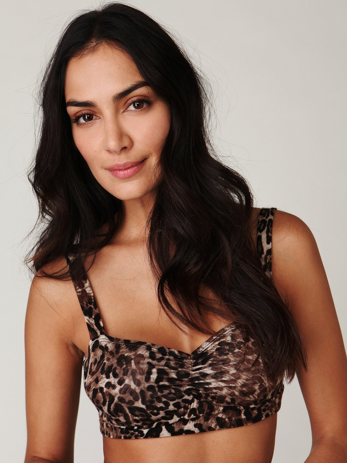 Printed Rouched Bralette