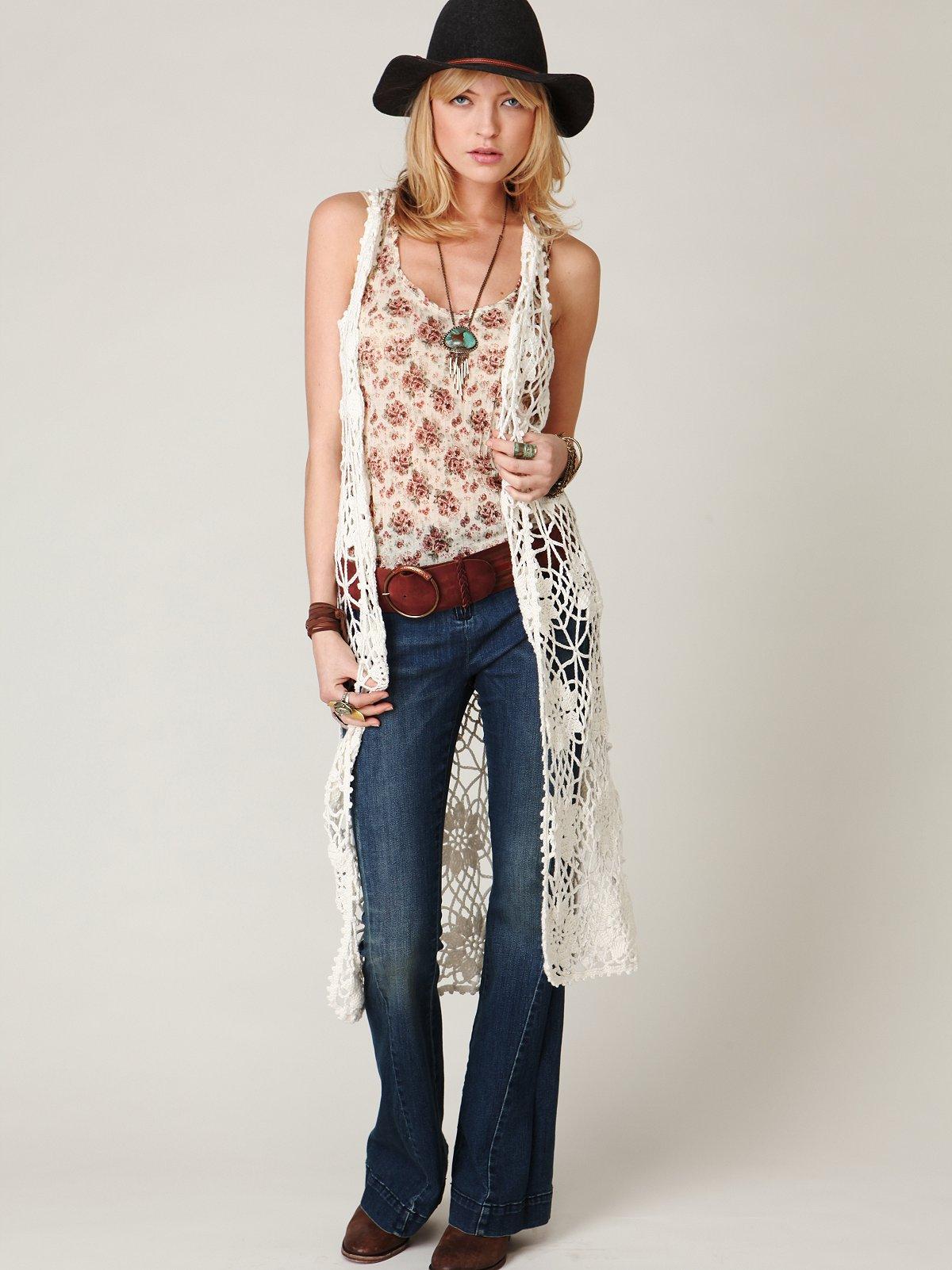 Crochet Maxi Vest