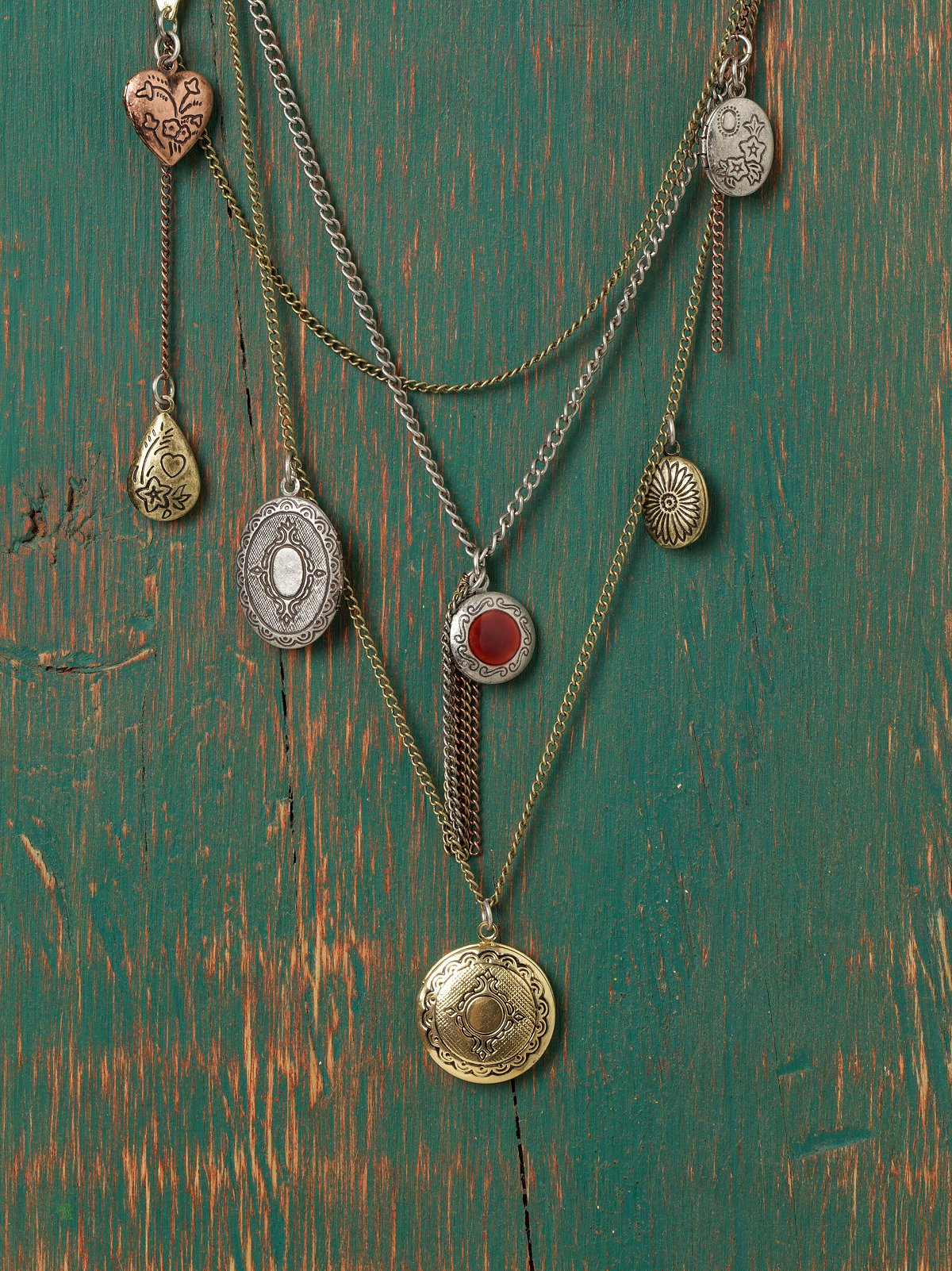 Locket Bib Necklace
