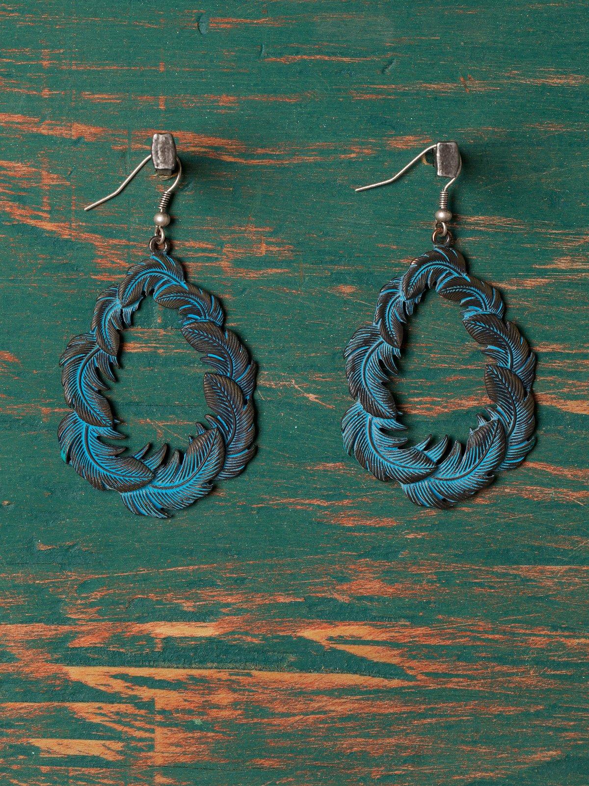 Patina Hoop Earring