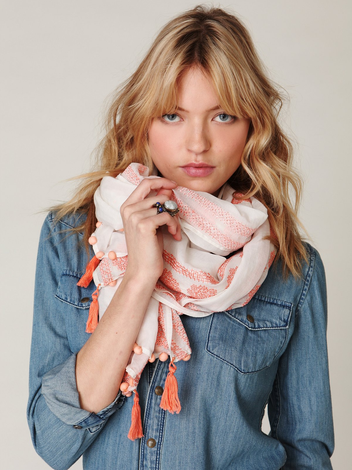 Formosa Embroidered Scarf