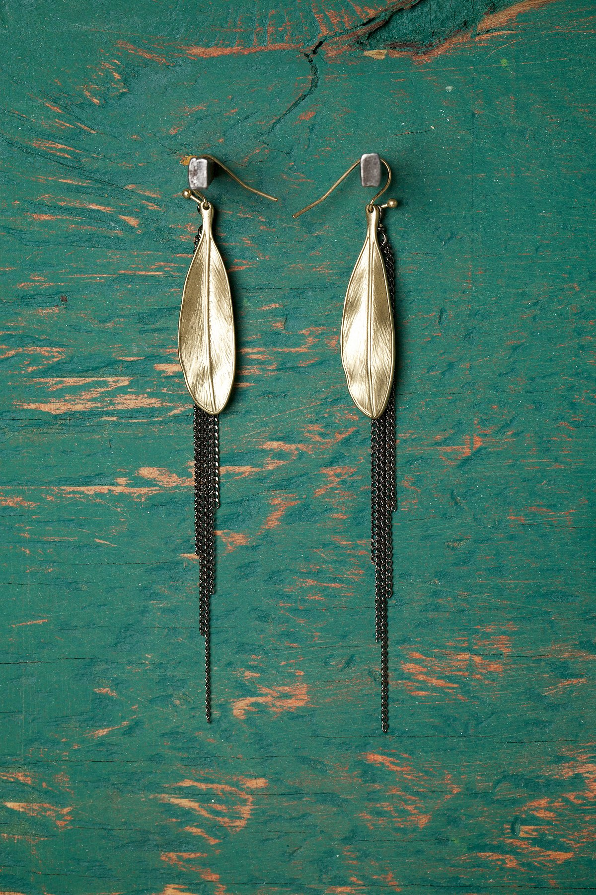 Feather & Chain Earring
