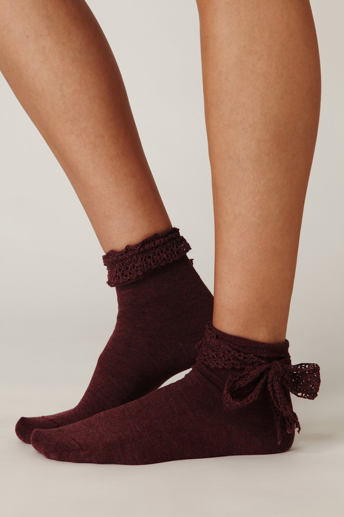 Crochet Ribbon Ankle Sock