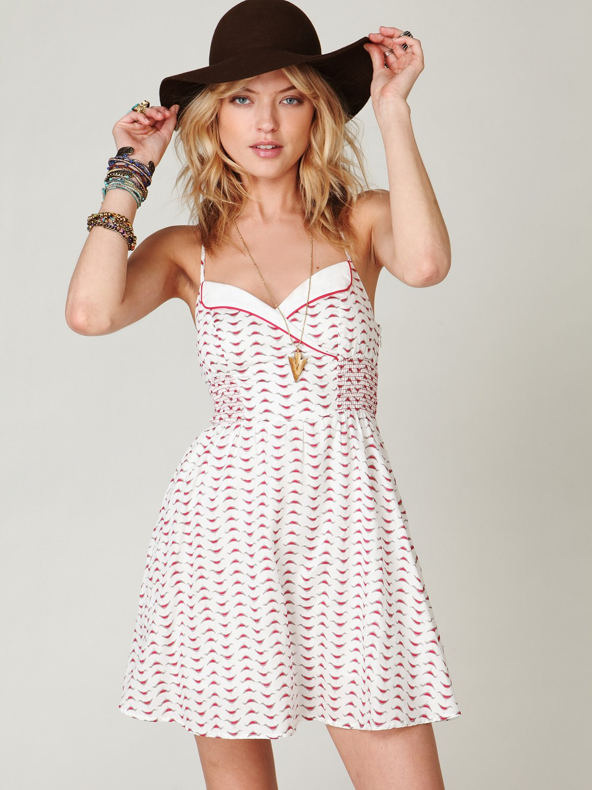 Chick Printed Fit N Flare Dress