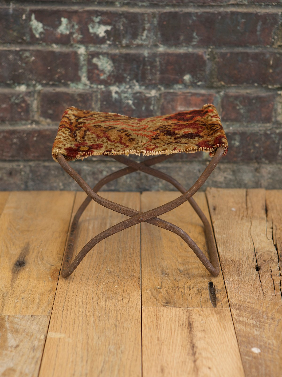 Vintage Tapestry Footstool