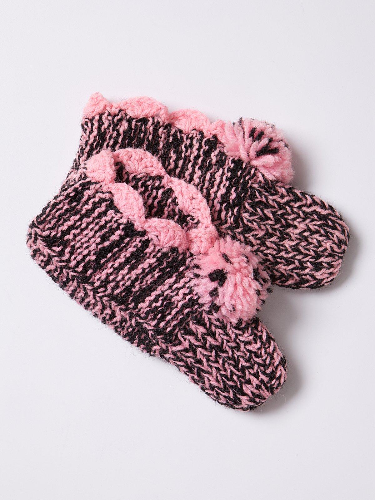 Vintage Pink Knit Booties