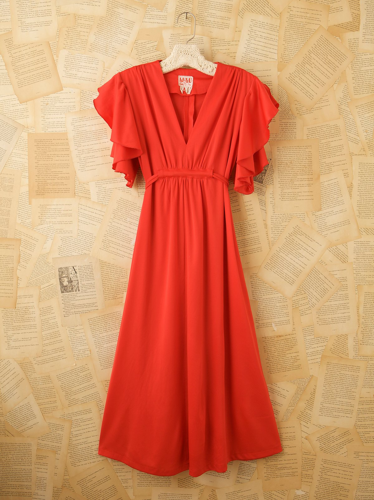 Vintage 70s Red Dance Dress
