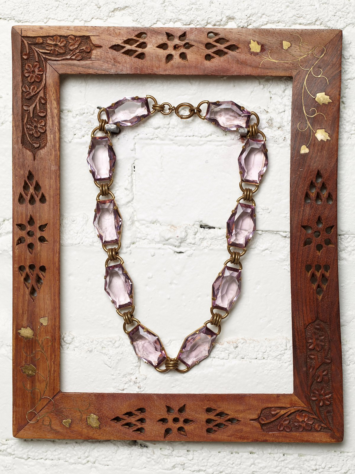 Vintage Purple Jewel Necklace