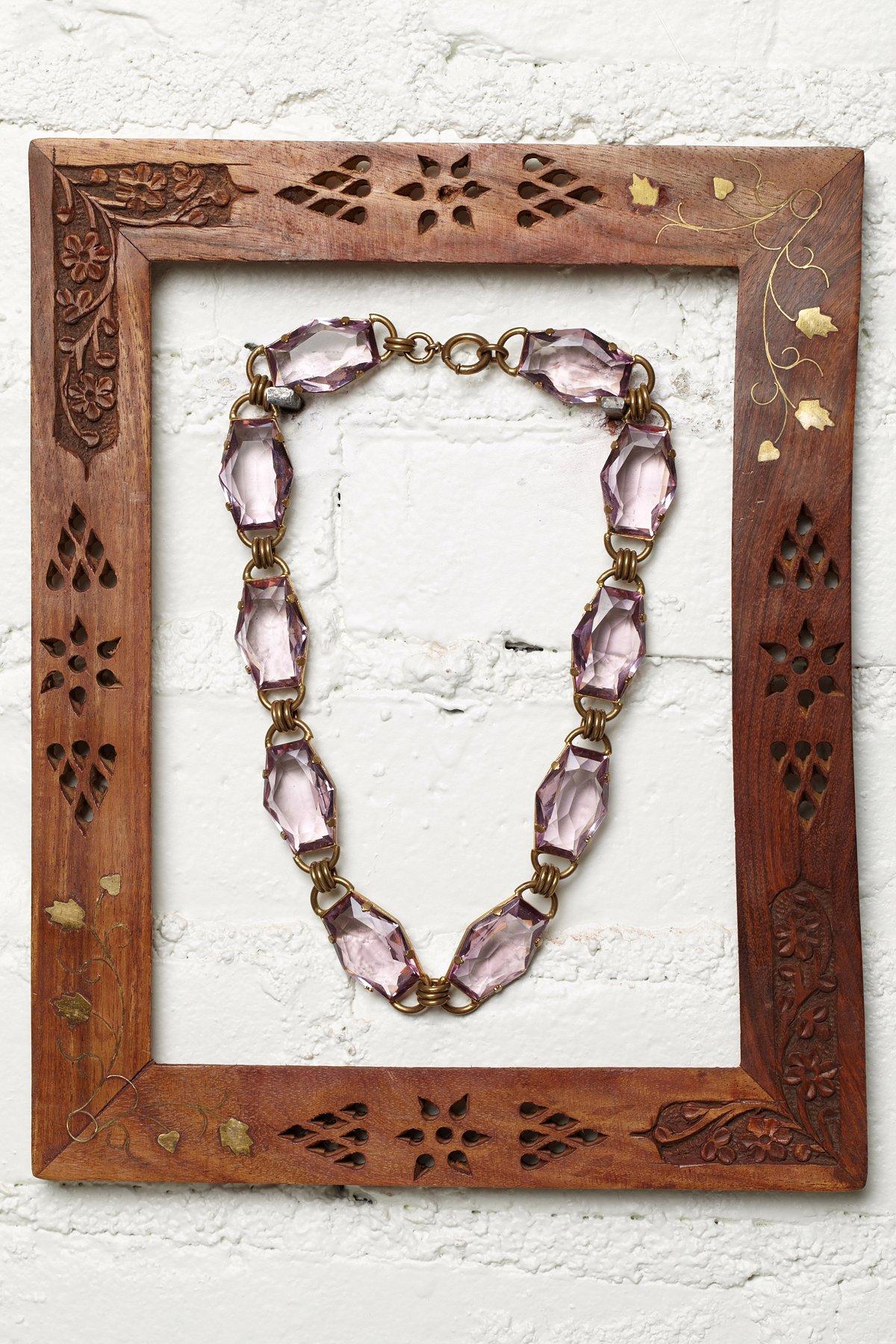 Vintage Purple Jewel Necklace
