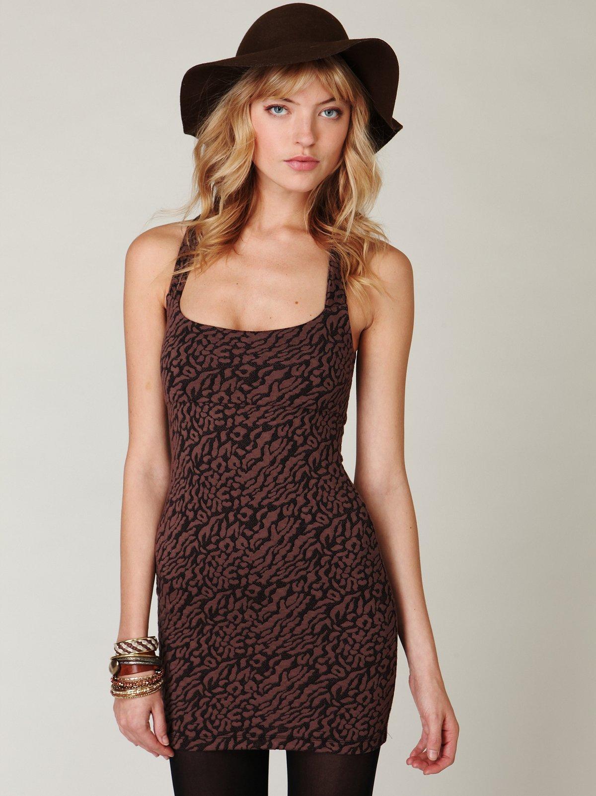 Animal Knit Bodycon Dress