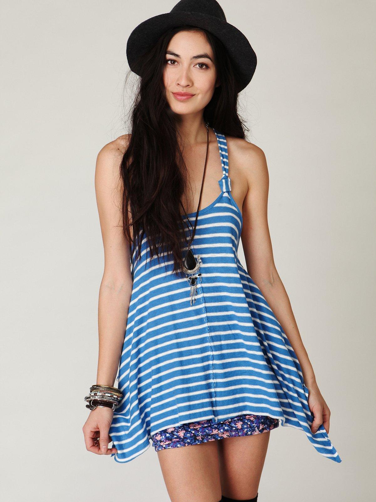Stripe Sleeveless Tunic