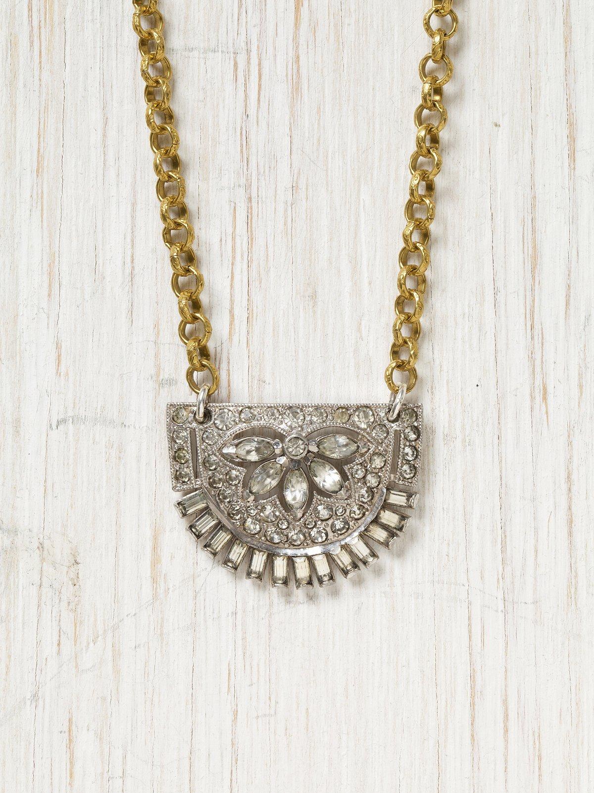 Vintage Moon Rhinestone Necklace