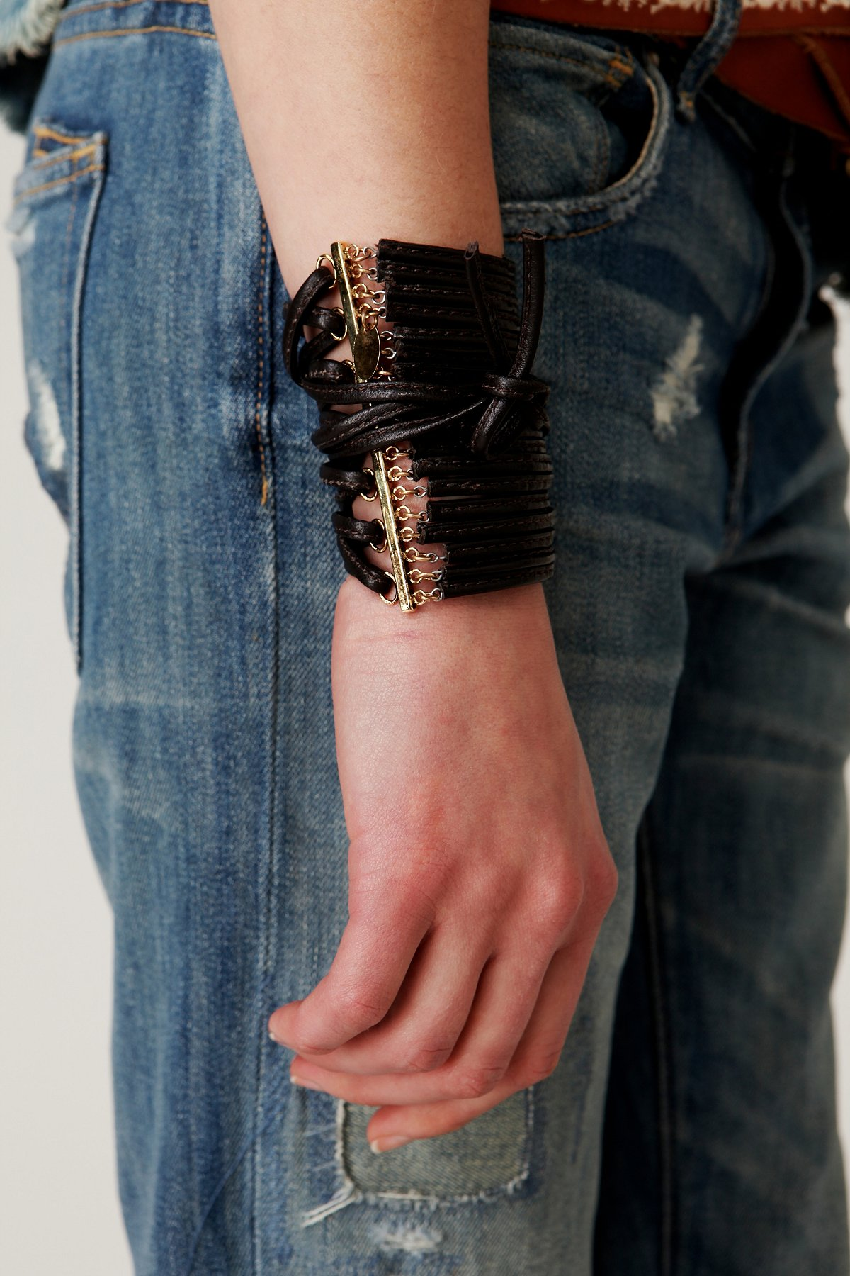 Leather Corset Cuff