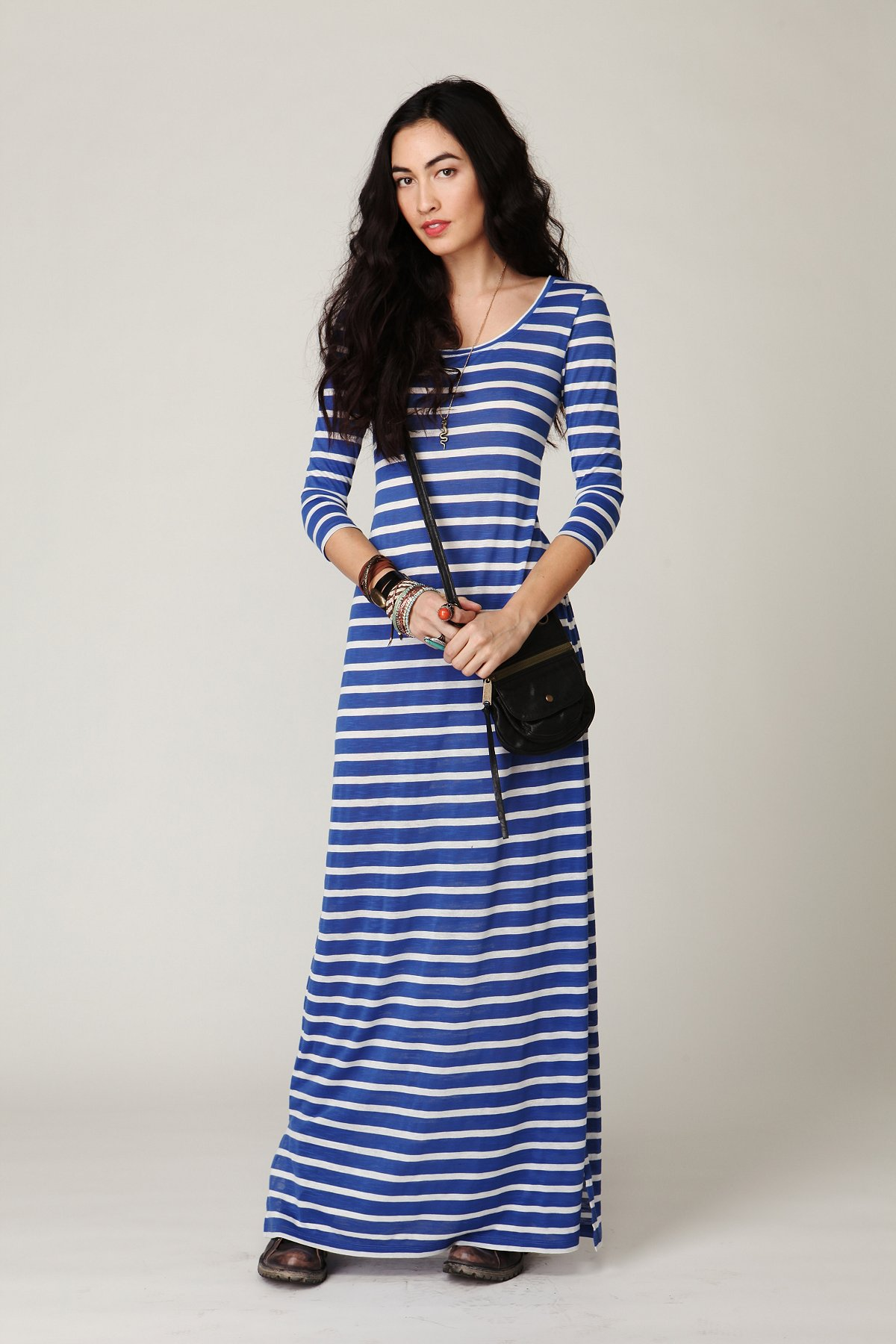 Long Sleeve Striped Maxi Dress