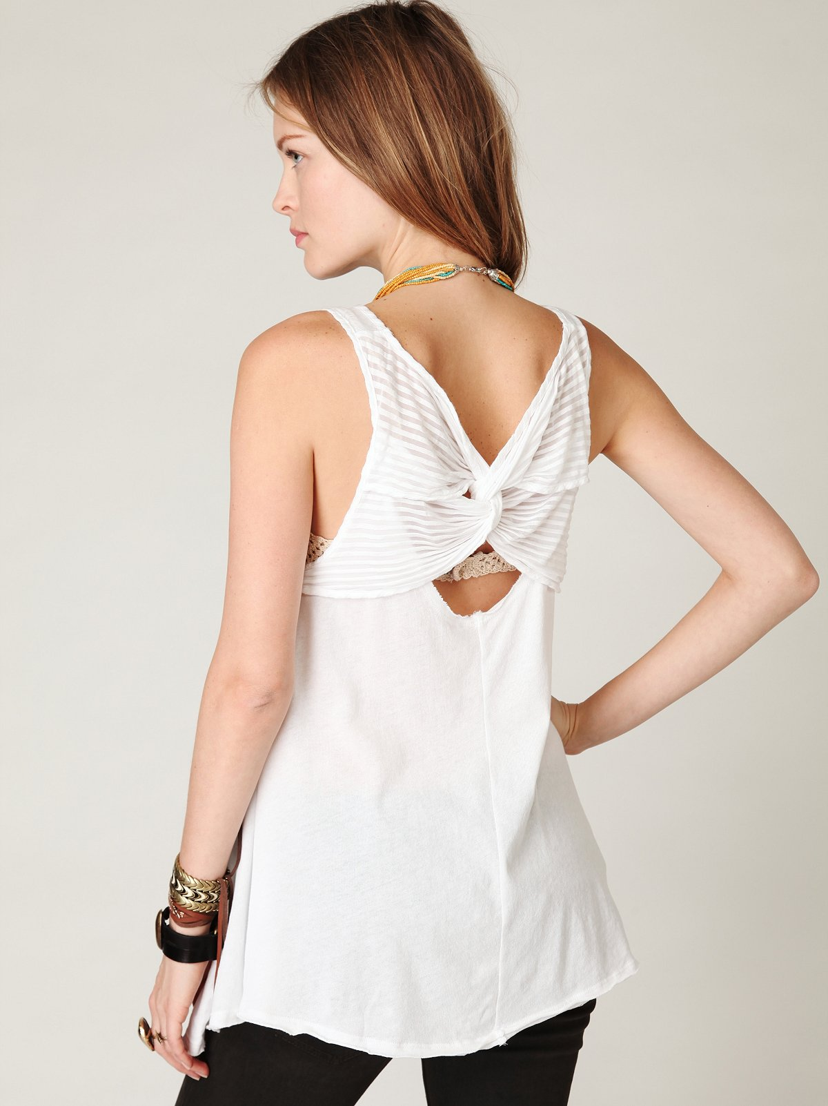 Twist Back Trapeze Top