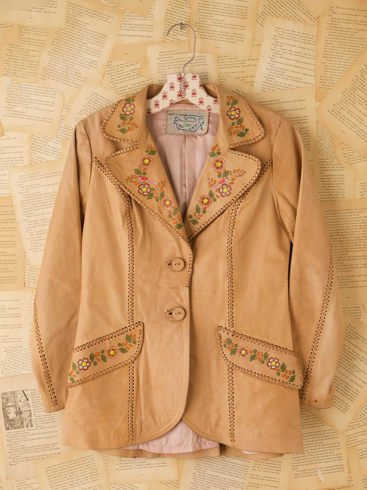 Vintage Hand Painted Leather Jacket