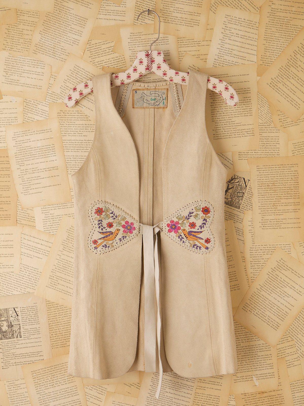Vintage 1970s Hand Crafted Suede Vest