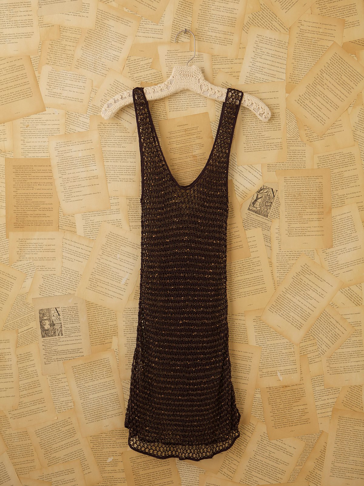 Vintage Knit Short Sleeve Tunic