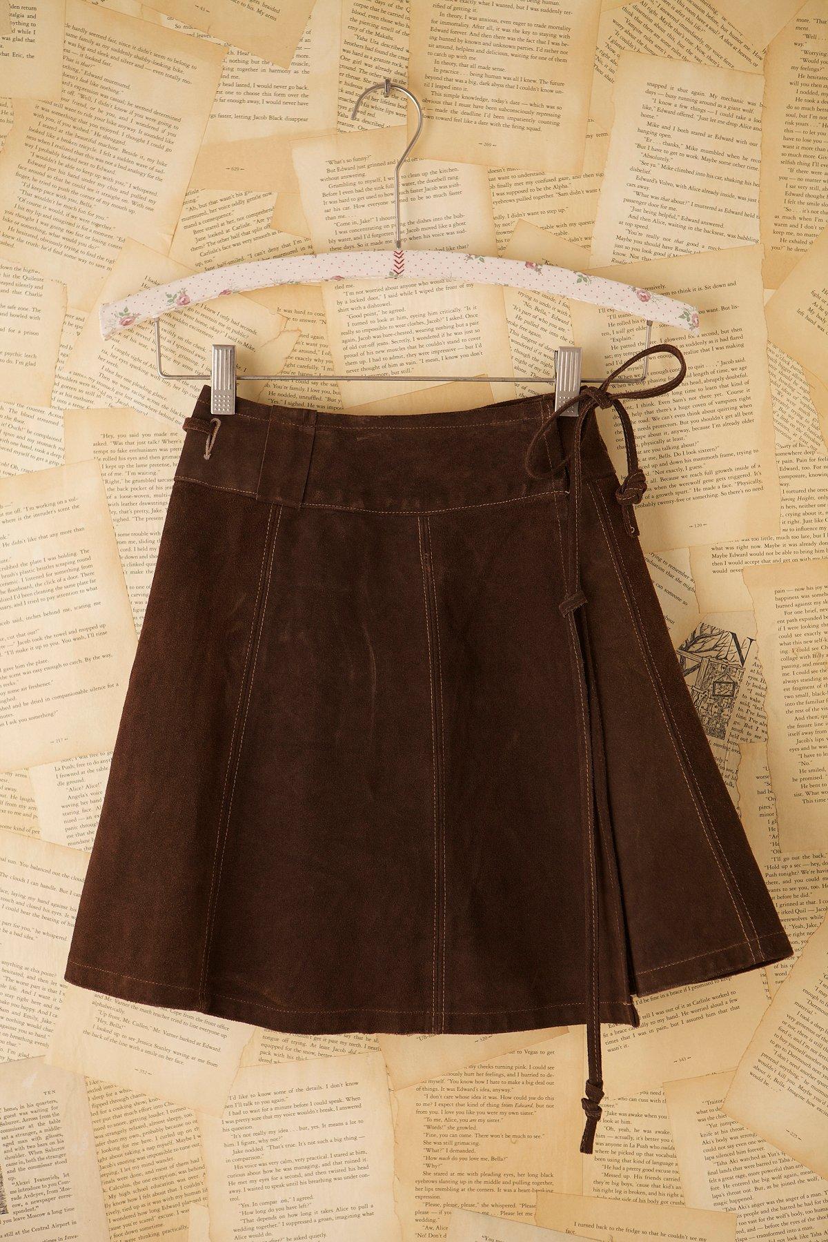 Vintage Brown Suede Skirt