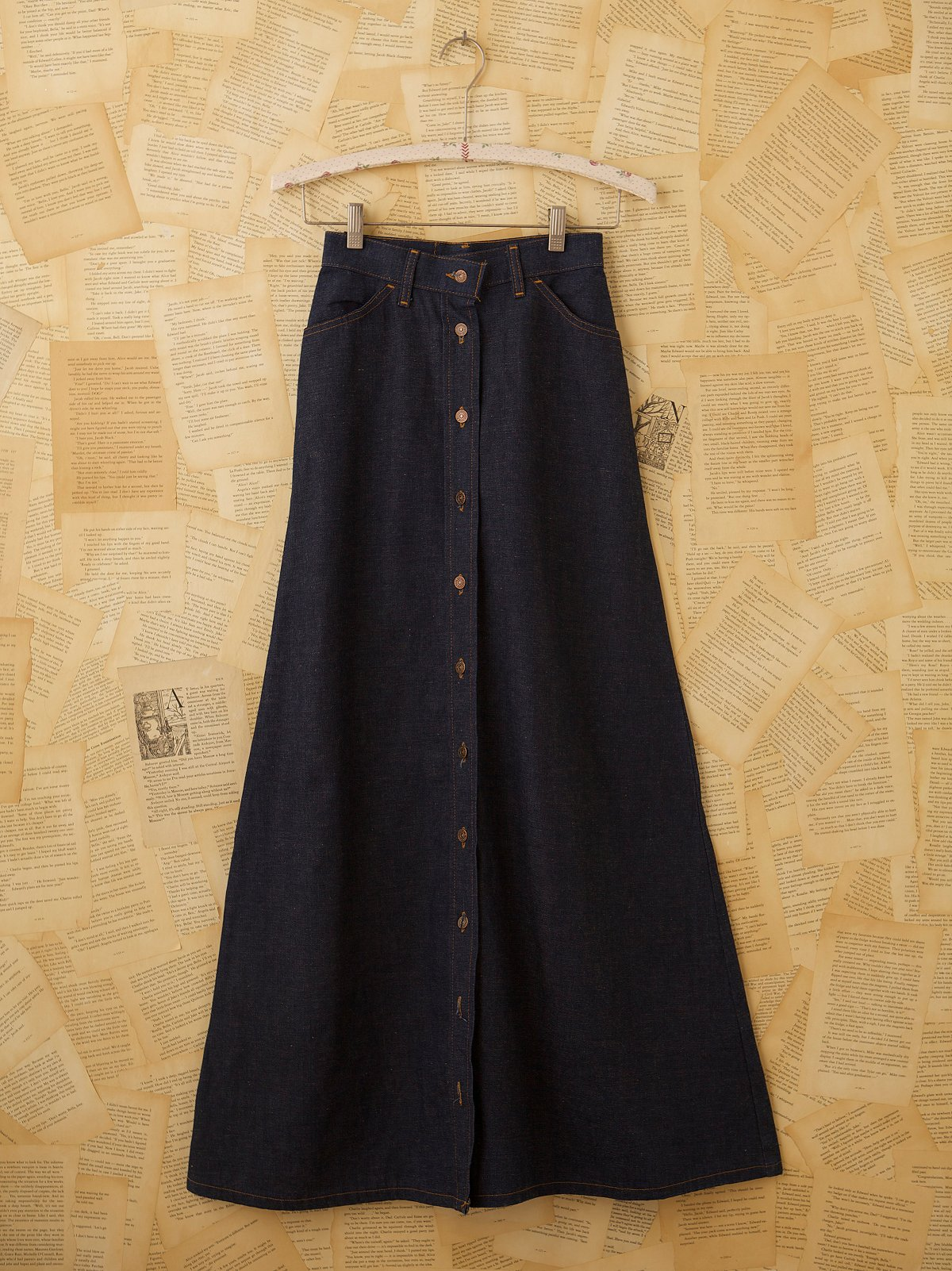 Vintage Levis Denim Maxi Skirt