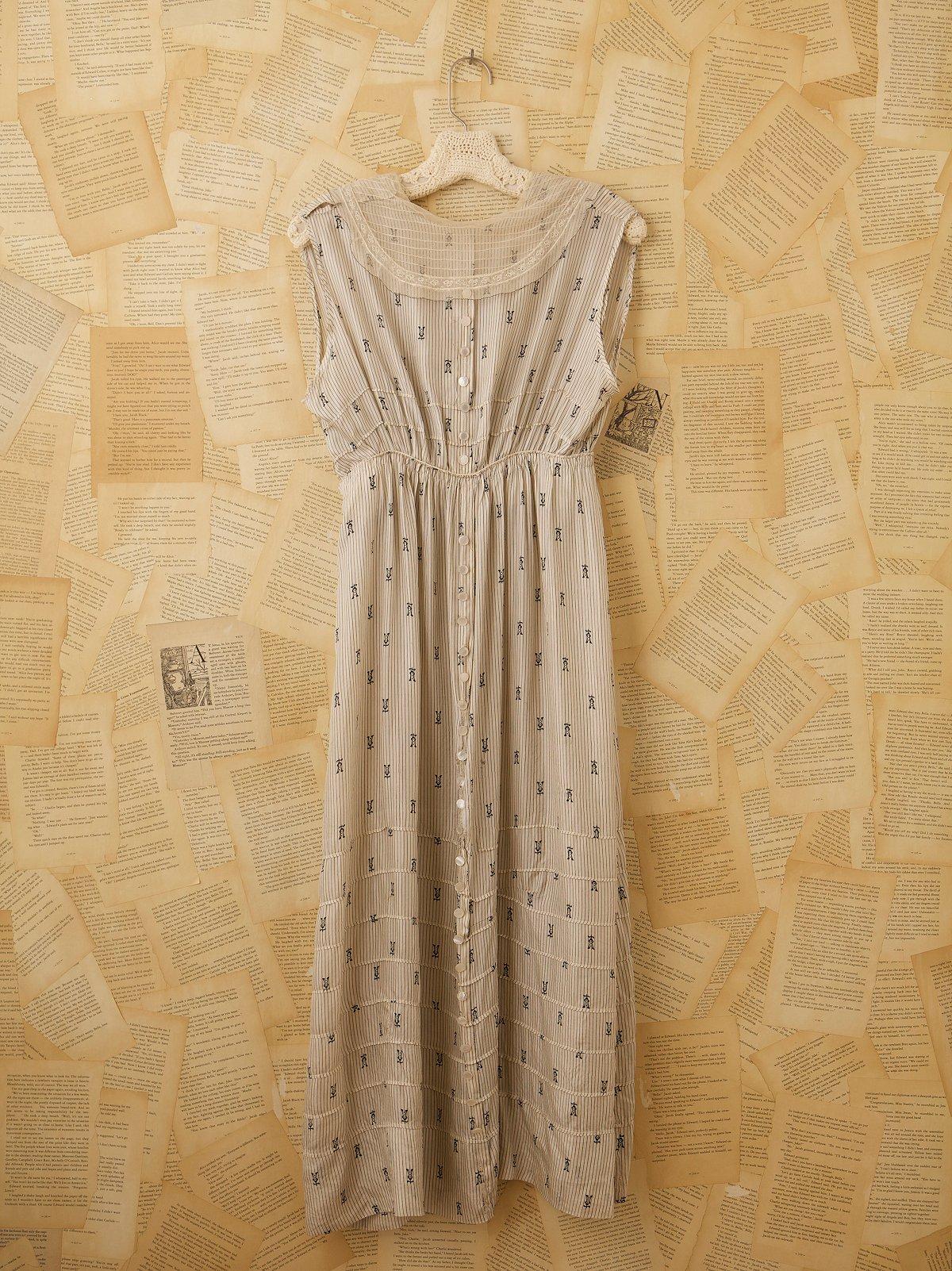 Vintage Victorian Silk Dress