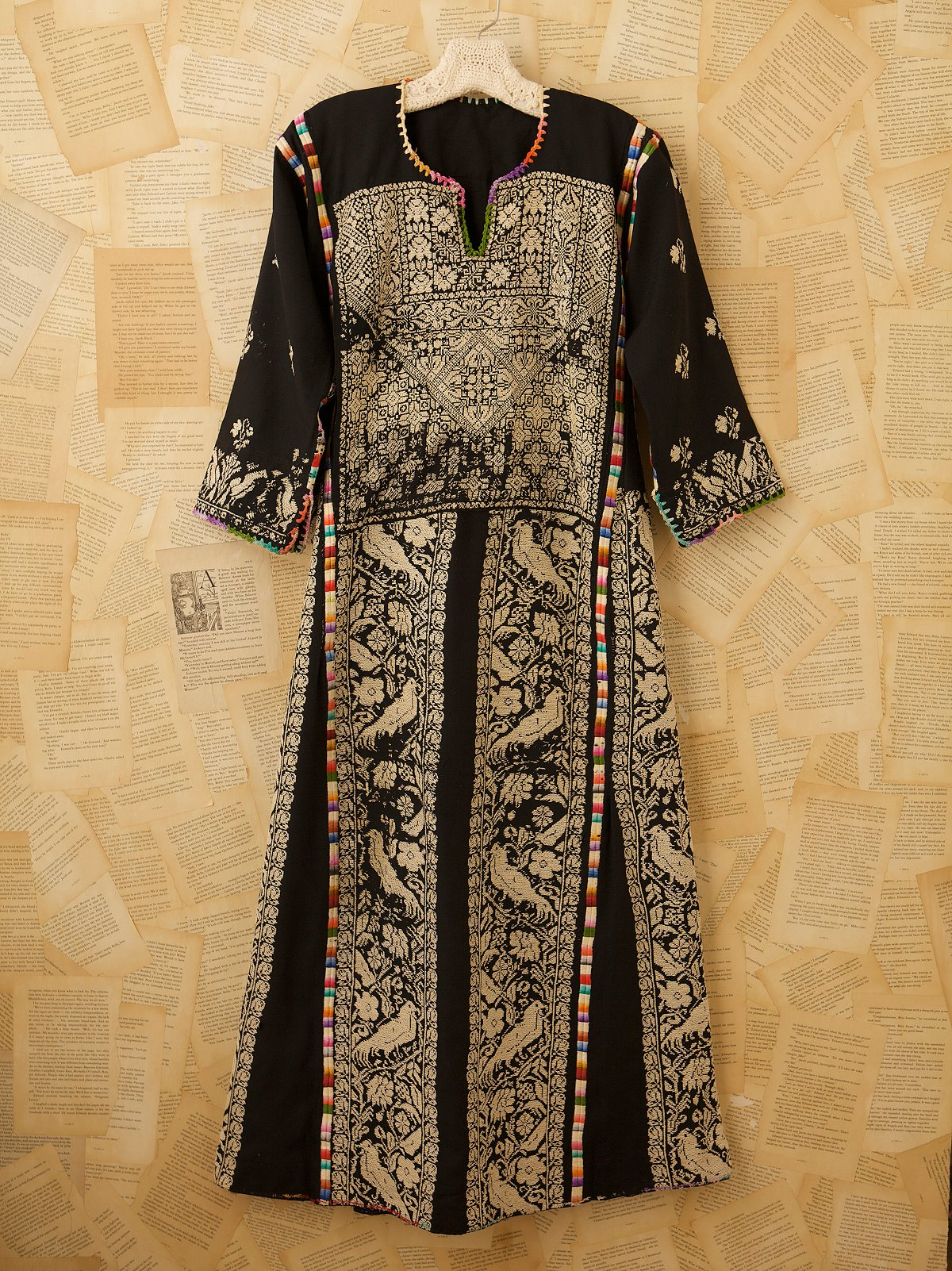 Vintage Black Silk Dress