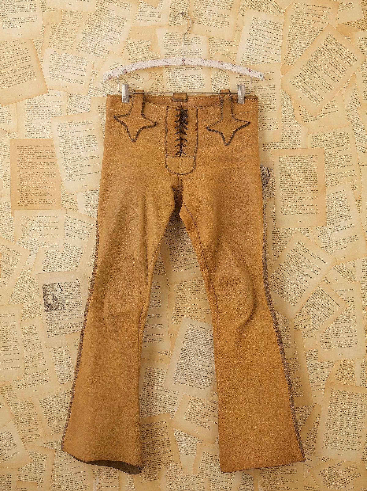 Vintage Handmade Leather Pant