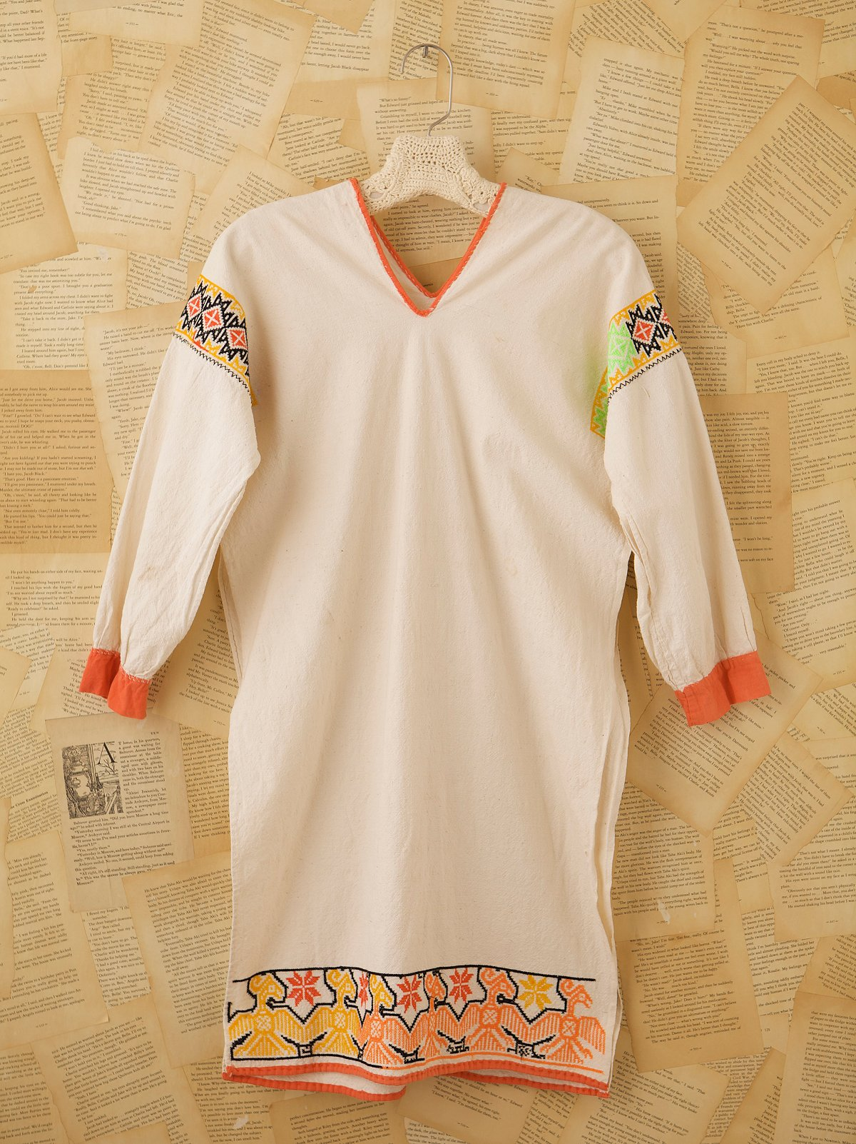 Vintage Woven Embroidered Tunic