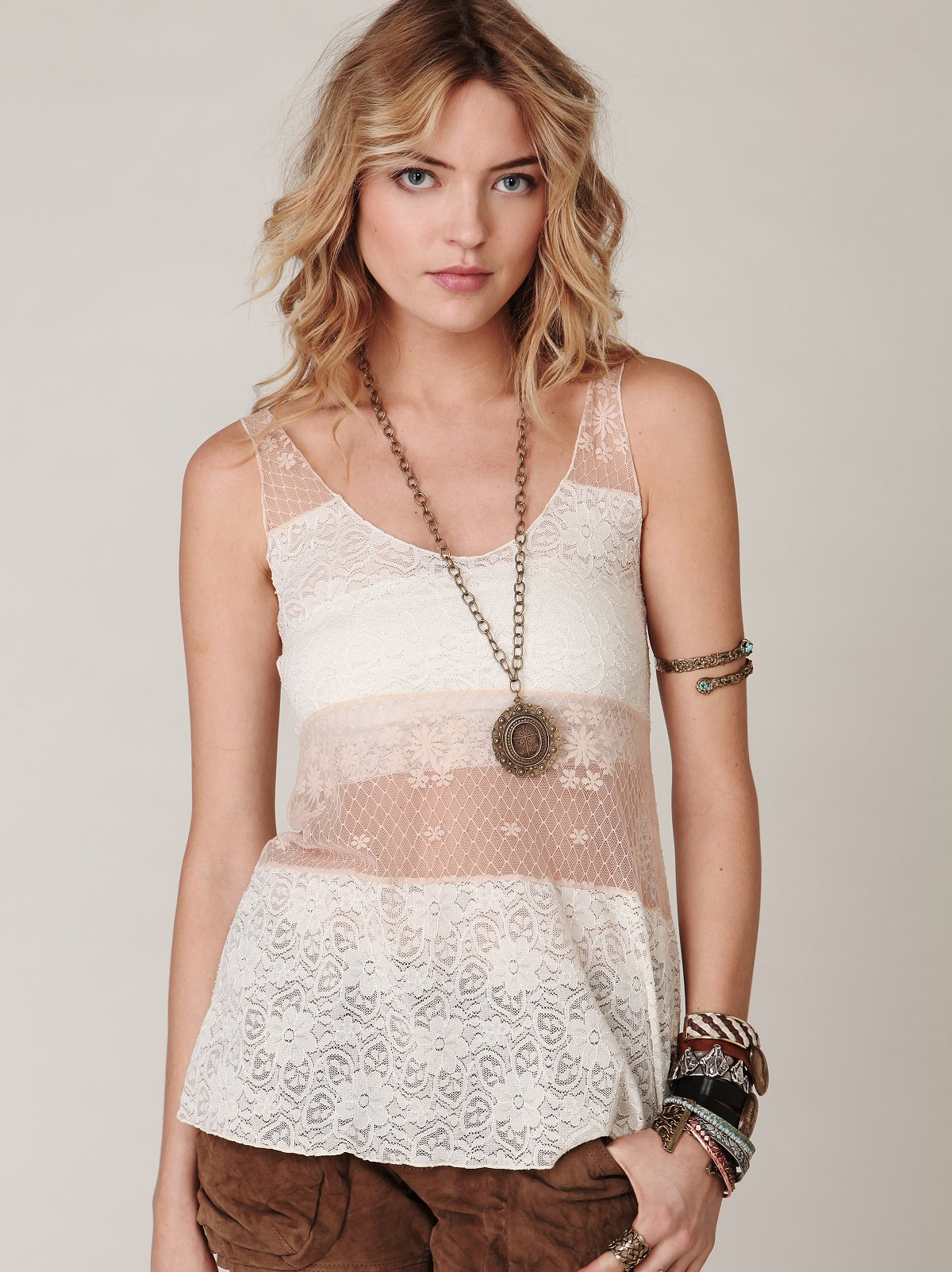 Patched Lace Cami