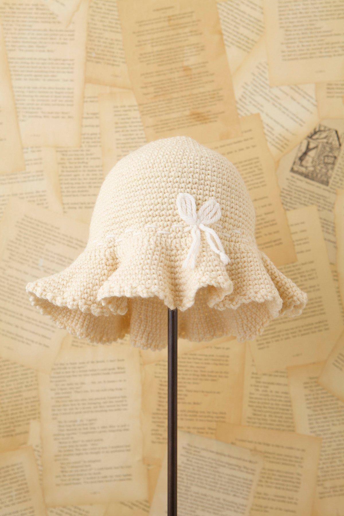Vintage1970s Knit Crusher Hat