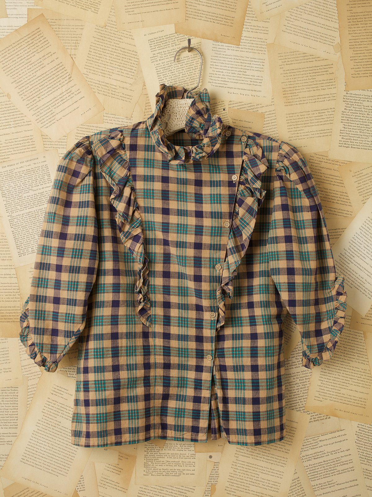 Vintage Plaid Long Sleeve Top