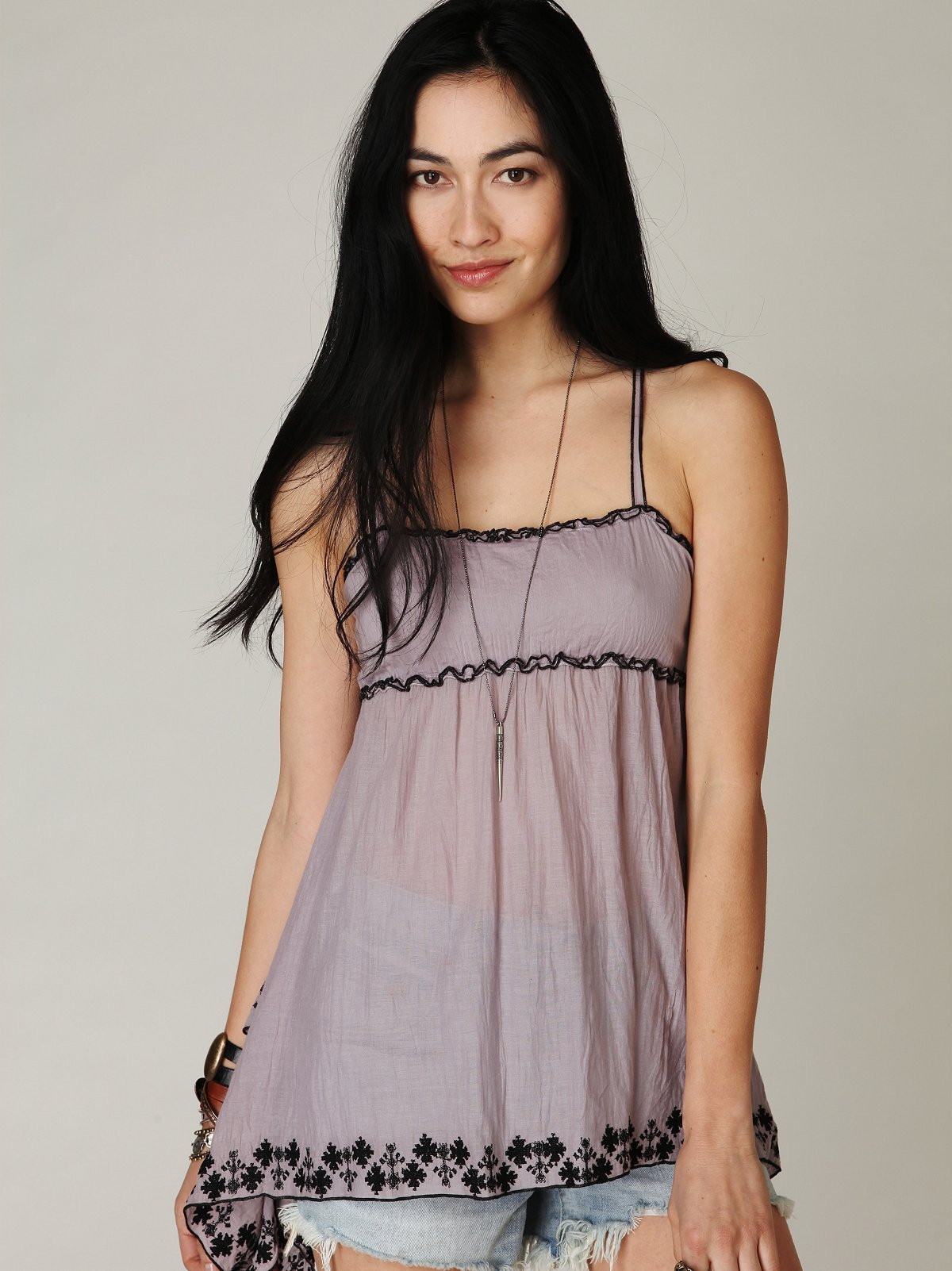FP-1 Embroidered Hem Cami