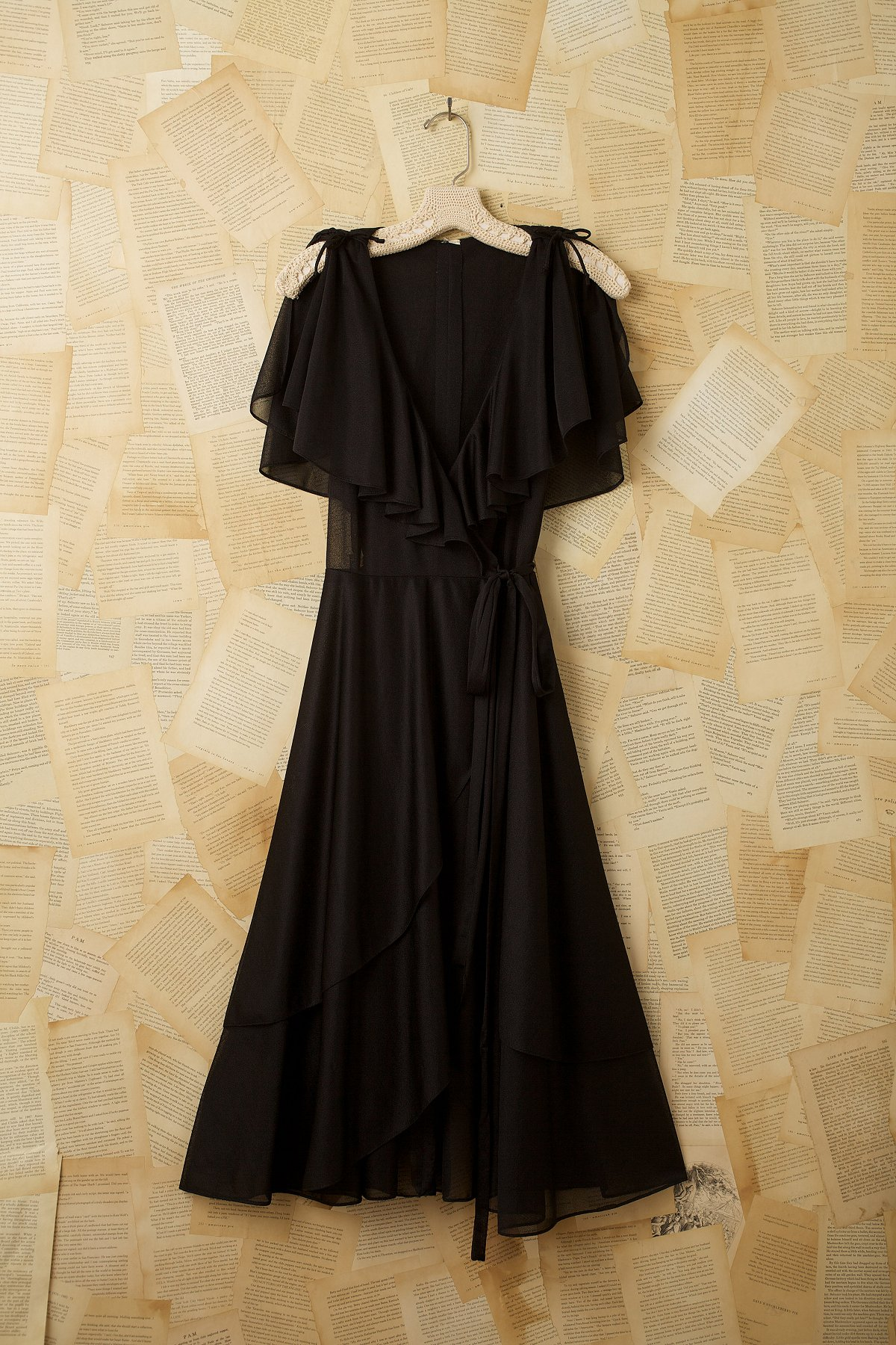 Vintage Sheer Wrap Dress