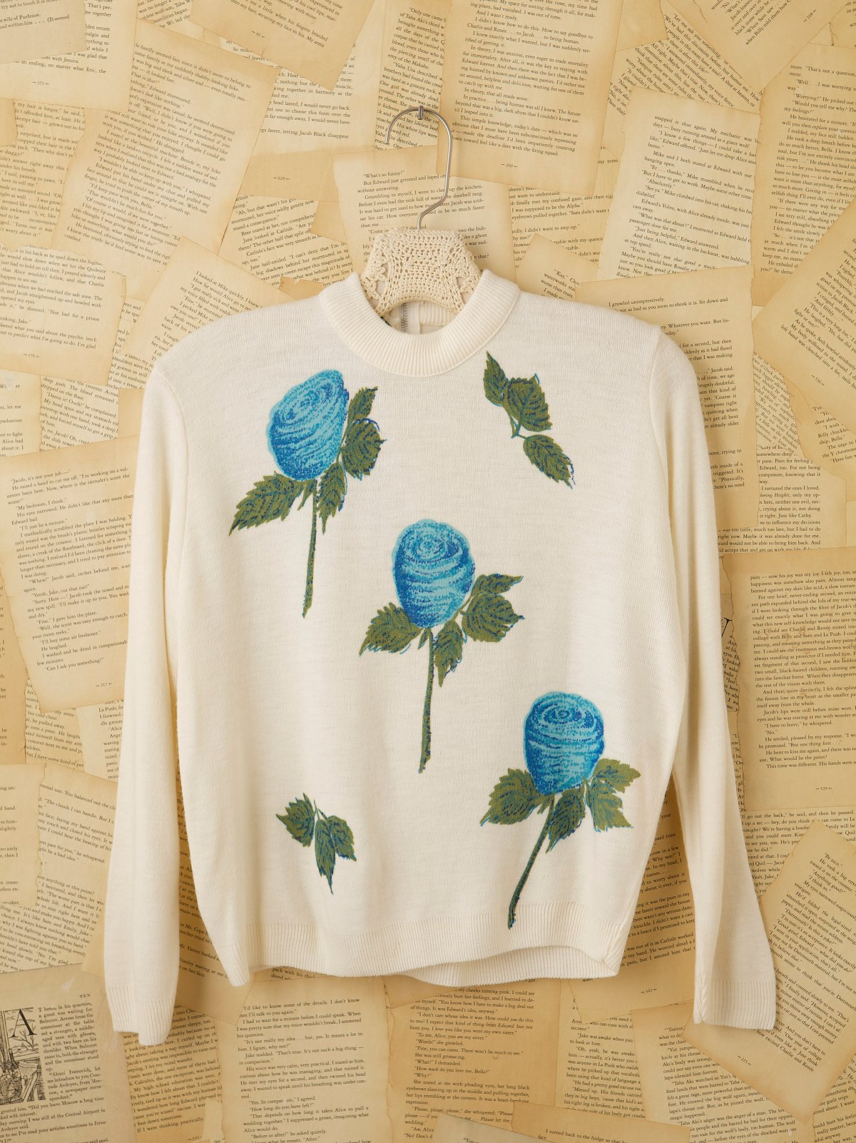 Vintage 1960s Floral Sweater